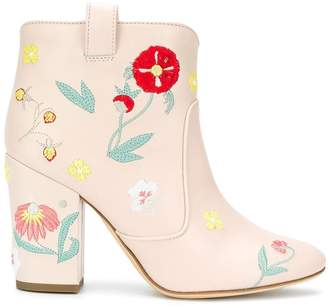 Laurence Dacade floral embroidered ankle boots
