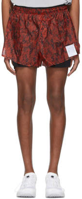 Satisfy Red and Black Python Short Distance 3 Shorts