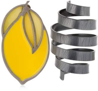 Le Citron Brass Earrings