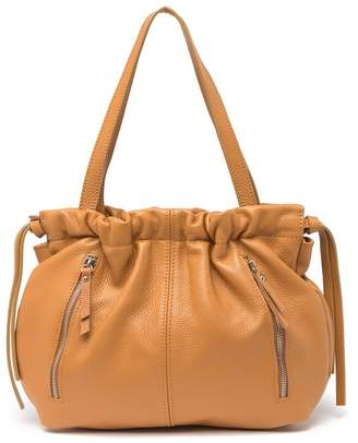 Renata Corsi Leather Drawstring Shoulder Bag