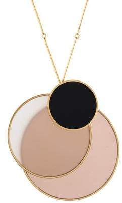 Tory Burch Resin Disc Pendant Necklace