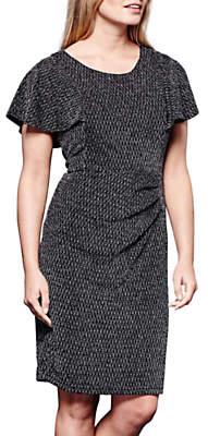 Yumi Shimmering Lurex Dress, Black