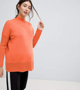 Asos DESIGN Maternity eco boxy jumper with ripple hem