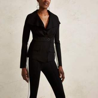 River Island Black RI Studio tailored stripe sleeve jacket