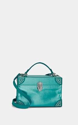 Area Women's Blair Mini Leather-Trimmed Shoulder Bag - Blue