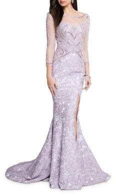 Terani Couture Glamour by Floral Mermaid Gown