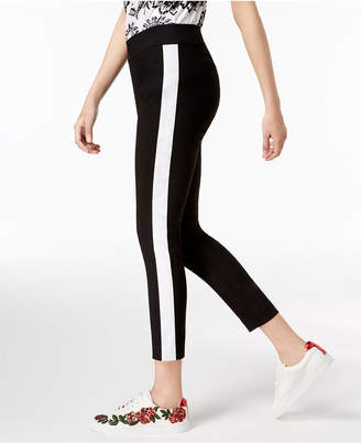 INC International Concepts I.n.c. Racer-Stripe Skinny Ankle Pants, Created for Macy's