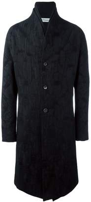 Individual Sentiments jacquard single breasted coat
