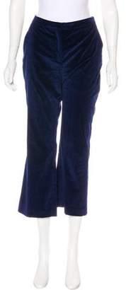 Altuzarra Mid-Rise Velvet Pants