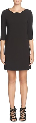 Cynthia Steffe Leslee Scalloped Neck Shift Dress $128 thestylecure.com
