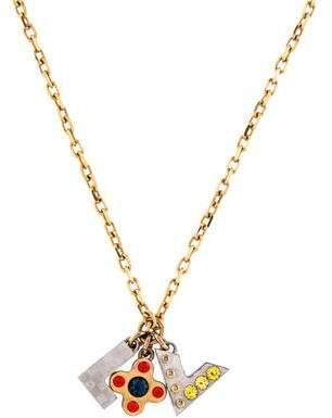 Louis Vuitton Crystal Love Letters Pendant Necklace