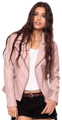 Forever 21 Leatherette Motorcycle Jacket