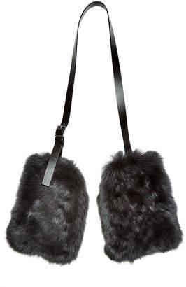 Jil Sander Fur Muffs with Leather Strap