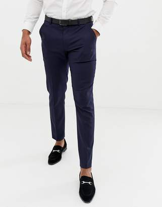 Asos DESIGN Skinny Tuxedo Suit Pants In Navy