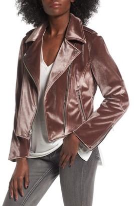 Women's Bcbgeneration Velvet Moto Jacket