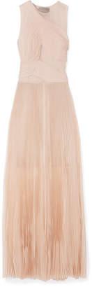 Jason Wu Chiffon-trimmed Plissé Silk-organza Gown - Blush