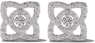 De Beers 18kt white gold Enchanted Lotus diamond stud earrings