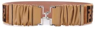 Fendi Printed velvet belt