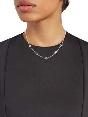Judith Ripka Sterling Silver & White Topaz Necklace