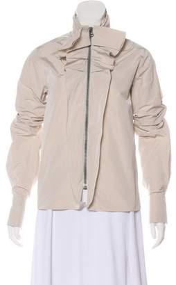 Lanvin Ruffle Zip-Up Jacket
