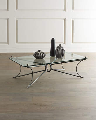Bernhardt Cortland Iron & Glass Coffee Table