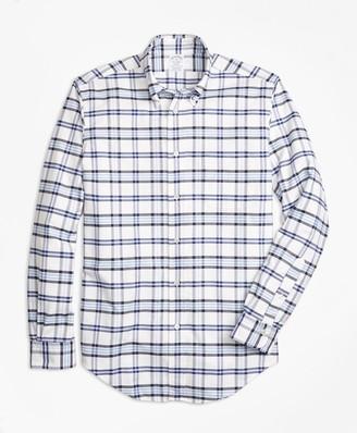 Brooks Brothers Regent Fit Oxford Tartan Sport Shirt