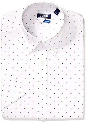 Izod Men's Dress Shirts Short Sleeve Regular Fit Stretch