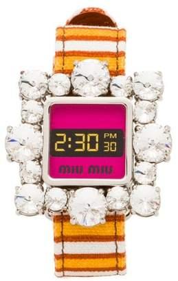 Miu Miu crystal embellished bracelet