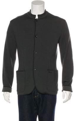 Armani Collezioni Patterned Virgin Wool-Blend Jacket