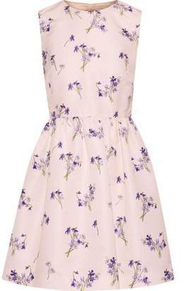 RED Valentino Floral-Print Satin-Faille Mini Dress