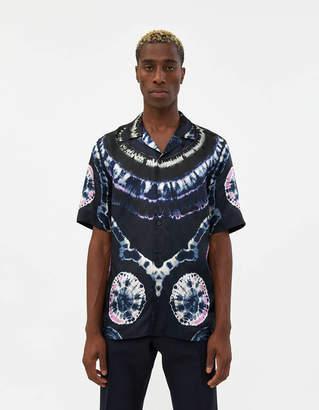 Dries Van Noten Carlton Camp Collar Shirt in Navy