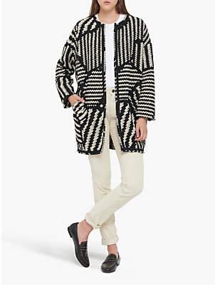 Gerard Darel Marla Coat, Black/Mid Brown