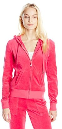 Juicy Couture Black Label Women's J Bling Orig Velour Jacket $128 thestylecure.com