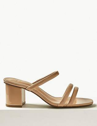 9b09f097cbb Marks and Spencer Wide Fit Multi Strap Mules