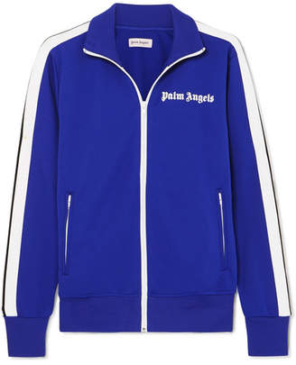 Palm Angels Striped Satin-jersey Track Jacket - Cobalt blue