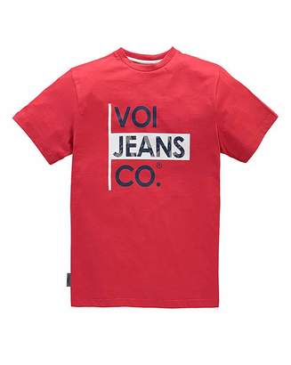 Voi Jeans Declan Red T-Shirt Regular