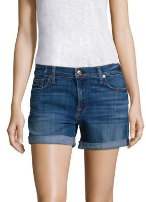 7 For All Mankind Relaxed Rolled Shorts $159 thestylecure.com