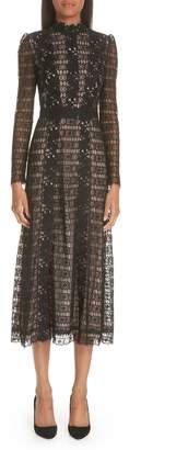 Giambattista Valli Lace Midi Cocktail Dress