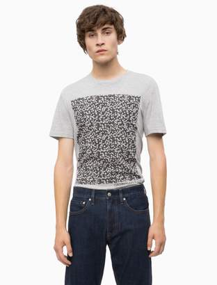Calvin Klein slim fit floral block logo t-shirt