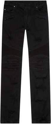 Balmain Glitter Biker Jeans