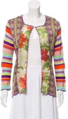 Christian Lacroix Bazar de Patterned Knit Cardigan