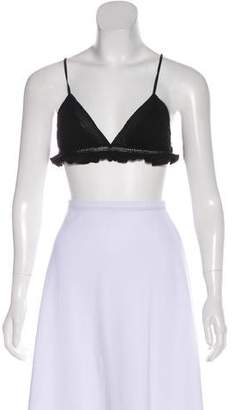 Ulla Johnson Ruffle-Trimmed Adjustable Bralette w/ Tags