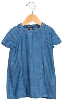 Vince Girls' Short Sleeve Shift Dress