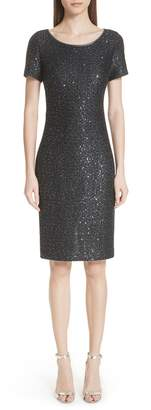 St. John Sparkle Sequin Knit Dress