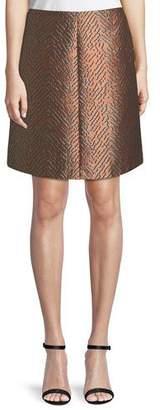 Emporio Armani A-Line Jacquard Skirt
