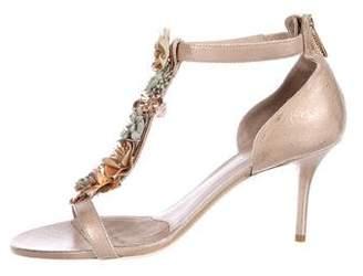 Donald J Pliner Suede Floral Sandals w/ Tags