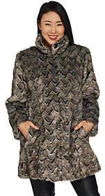 Dennis Basso Platinum Collection BasketWeave Faux Fur