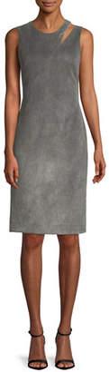 Milly Fractured Velvet Sheath Dress