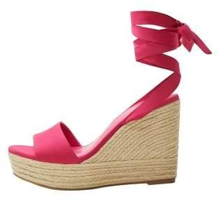 Violeta BY MANGO Wedge strips sandals