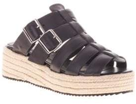 Sol Sana Bec Leather Espadrille Sandals